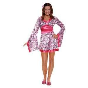 Kimono Cherry Blossom Geisha Woman Costume Flower Pink Japanese Dress