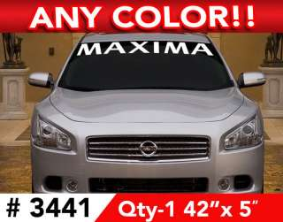 NISSAN MAXIMA WINDSHIELD DECAL STICKER 42w x 5h