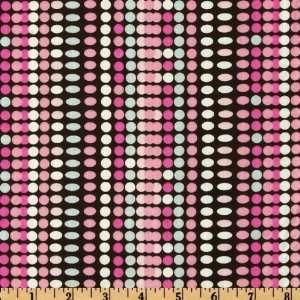 44 Wide Retro Dots Pink/Black Fabric By The Yard Arts