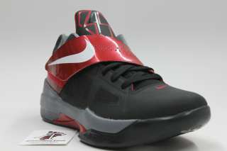 NIKE MEN KD IV BASKETBALL SHOES NEW KEVIN DURANT AUTHENTIC BLACK RED