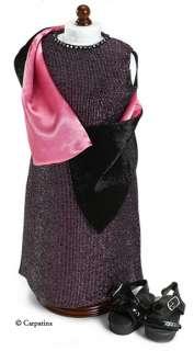 Long Glitter Dress, Shawl, Sandals ~ American Girl Doll