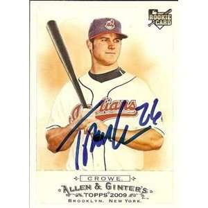 Crowe Signed Indians 2009 Allen & Ginter Card Sports Collectibles