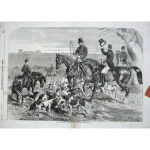 1856 Fox Hunting Prince Albert Harriers Hounds Sport: Home