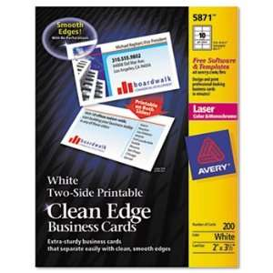 New Avery 5874   Two Side Clean Edge Laser Business Cards
