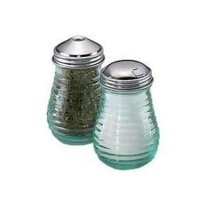Oz. Beehive Sugar Dispenser with Side Flap   Green Tint Glass