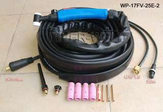 WP 17FV 25E 2 TIG welding Flexible Valve torch body 25