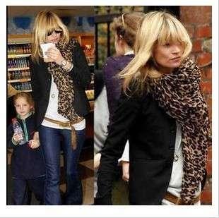 Hot Leopard Scarf Shawl Stole Cashmere Pashmina Silk