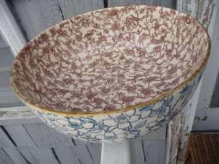 UNIQUE ANTIQUE ROYAL DOULTON BOWL IVORY INSECTS PATTERN BROWN INSIDE