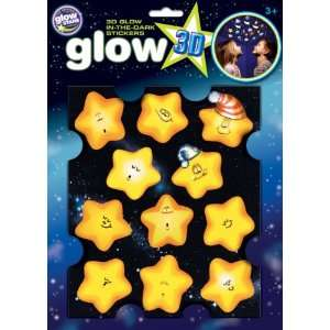 Glow 3 D Stickers   Funny Stars Toys & Games