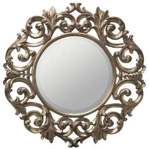 Rochelle Burnished Gold Leaf Wall Mirror