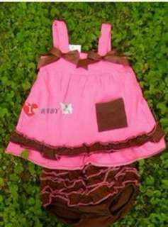 Top+Pants+Headband Set 0 12M Bloomers Outfit Dress Nappy Cover
