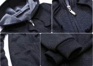 Mens Womens Napping Zip up Korean Hoodies Warm Jackets Top Shirts S M