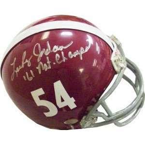 Lee Roy Jordan Signed Crimson Tide Mini Helmet   61 Nat Champs