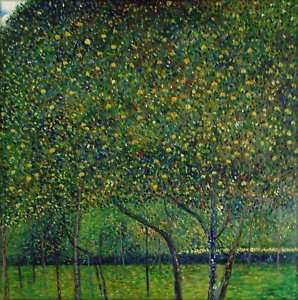 Hand Painted Oil Painting Repro Gustav Klimt Pear Tree, 1903