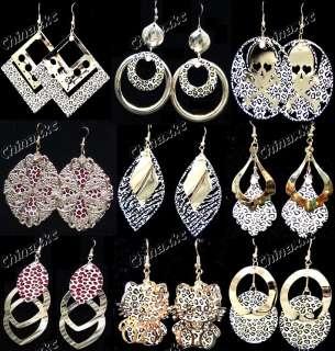 Wholesale jewelry lots 22pairs Mix style Leopard rhinestone Fashion