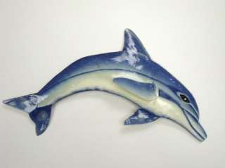 Tropical Dolphin Haitian Metal Wall Art Decor