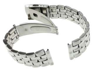 18mm Straight End Stainless Steel Watch Band Bracelet Metal Strap Push
