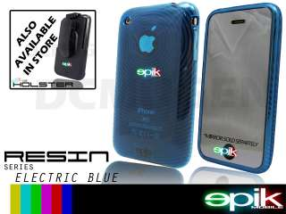 BLUE Soft Crystal Gel Hard Case Apple iPhone 3GS 3G S