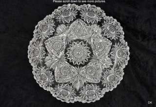 Fabulous Antique Hawkes Cut Glass ABP Small Round Dish/ Tray
