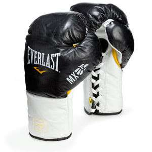 Everlast Mx Pro Fight Boxing Gloves 10oz L/XL Black NEW lace up Free