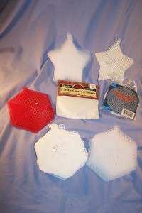 LOT Many Colors 7 mesh Plastic Canvas 100+ Sheets and Shapes