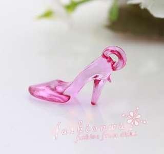 300 pcs Mix Color Plastic High heel shoes Charms 1
