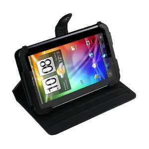 Multi Angle Leather Folio Case Cover for HTC Evo View 4G/Flyer