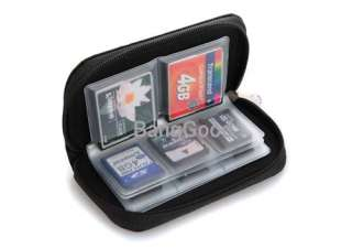SDHC MMC CF Micro SD Memory Card Storage Carrying Pouch Case Holder