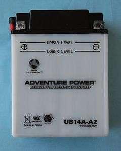 UB14A A2 YB14A A2 Yamaha YFM40FW Kodiak ATV Battery 806593420023