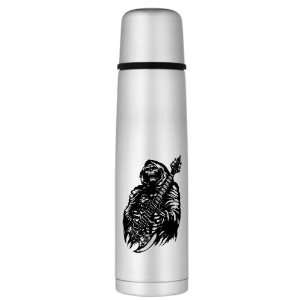 Thermos Bottle Grim Reaper Heavy Metal Rock Player