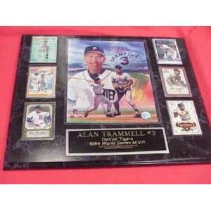 Alan Trammell Extra Large 6 Card Plaque