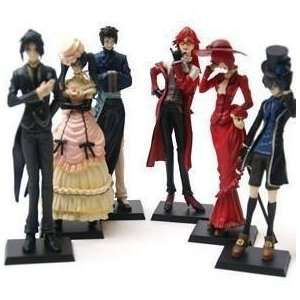 6 Anime Kuroshitsuji Black Butler Characters Figure Set