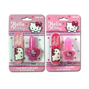 Hello Kitty Nail File & Polish 2 Asstd
