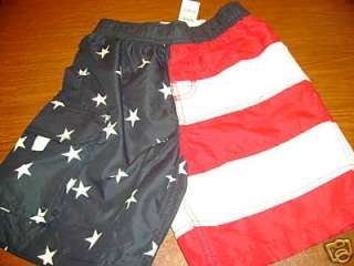 NWT TCP childrens place July 4th swimming trunks 5 6