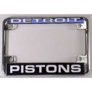Pistons Chrome Motorcycle RV License Plate Frame