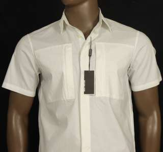 BRAND NEW MENS MICHAEL KORS WHITE SHORTS SLEEVE DRESS SHIRT