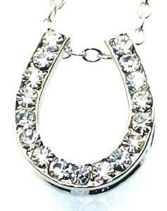 Horseshoe Silver Tone Pendant Chain Necklace New