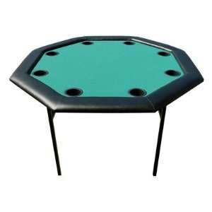 48 Octagon Poker Table with Folding Legs in Green