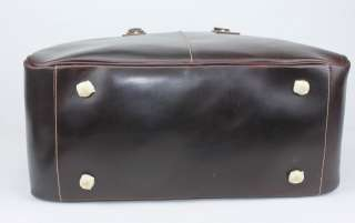 Genuine Leather Travel Case Bag Duffle Messenger Gym 45CM T1