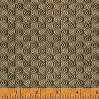 Brown Optical Wave Brick House Fabric Civil War Repro