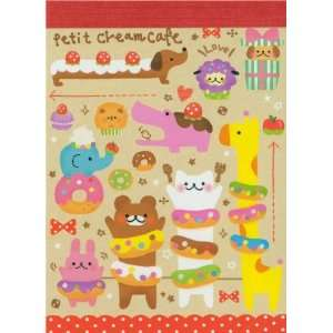 cute mini Memo Pad Bear Donuts Japan kawaii Toys & Games