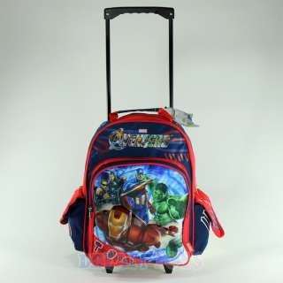 Marvel Avengers Roller 16 Backpack   Rolling Boys Bag LARGE Iron Man