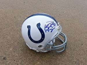 Indianapolis Colts #18 PEYTON MANNING Signed Autographed Mini Helmet
