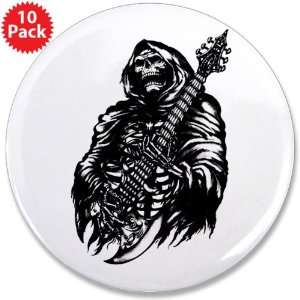 Button (10 Pack) Grim Reaper Heavy Metal Rock Player