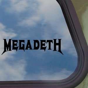 Megadeth Black Decal Metal Rock Band Truck Window Sticker