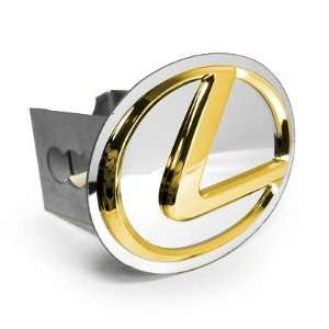 Lexus Gold Logo Metal Tow Hitch Cover Automotive