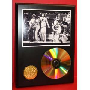 Rolling Stones 24kt Gold Art CD Disc Display   Band Merch