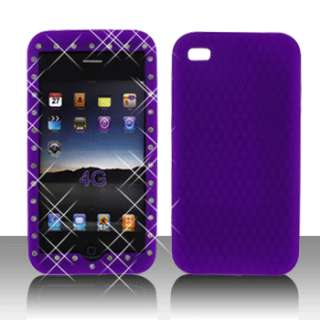 iPhone 4 4S Phone Dr. Purple Accessory Silicone Soft Case Cover