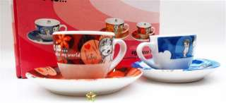 LOVE IS Espresso Coffee Cup Mug Saucer Set SWEET NEW