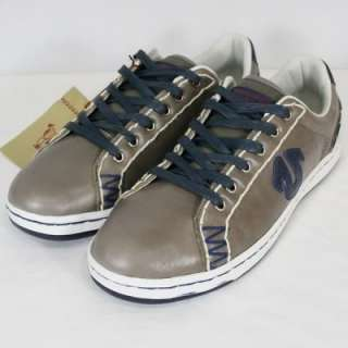 100% Auth. True Religion Mens Jaden Leather Shoes Gray